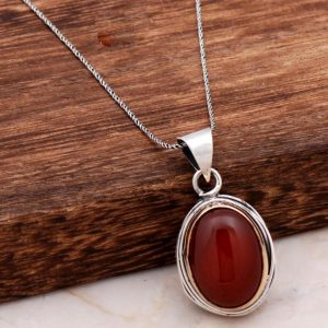 Agate Handmade Silver Design Necklace 6802