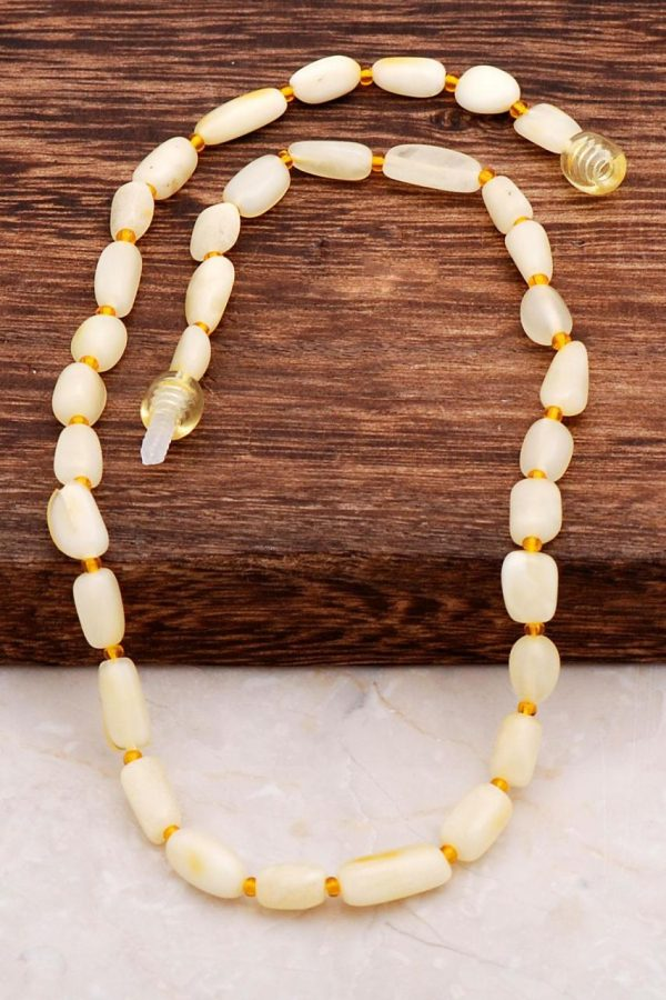 Amber Baby Teeth Necklace 6557