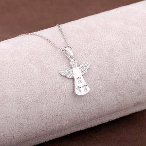 Angel Design Silver Necklace 2945