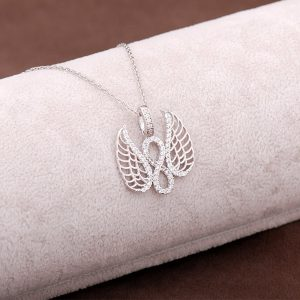 Angel Design Silver Necklace 2948