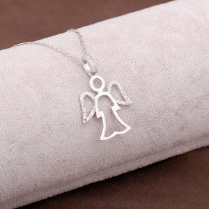 Angel Design Silver Necklace 2953