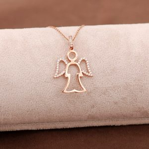 Angel Necklace Rose Silver 3646