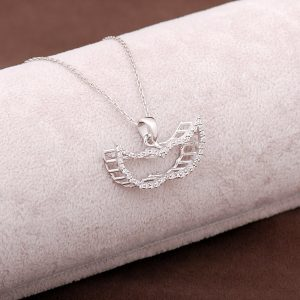 Angel Wing Design Silver Necklace 2951