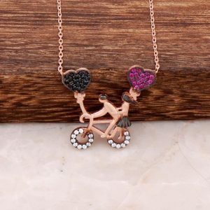 Bike Lovers Ros Silver Necklace 2373