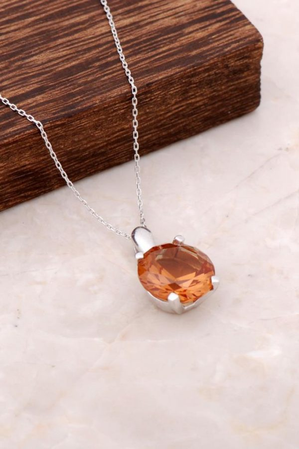 Color Changing Sultan Stone Silver Necklace 2110