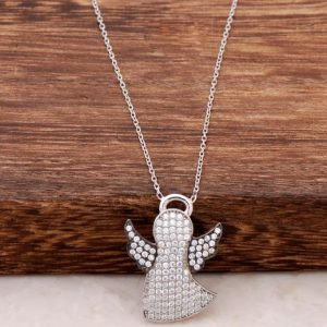 My Luck Angel Silver Necklace with Rhodium 469