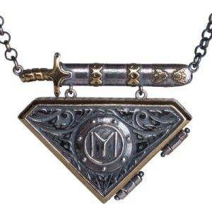 Resurrection Ertuğrul Double Sided Silver Amulet Necklace