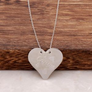 Rhodium Silver Plate Necklace 328