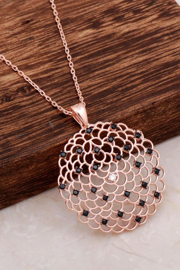 Rose Silver Flower of Life Necklace 6667