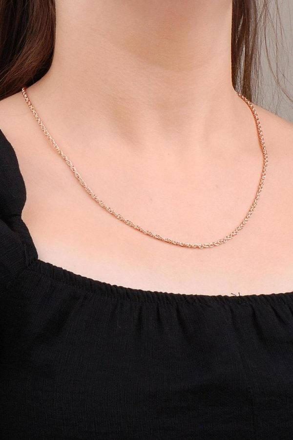 Rose Silver Twirl 54 Cm Chain Necklace 6616