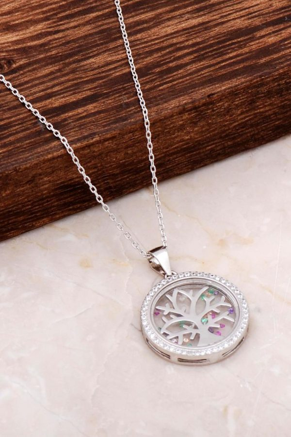 Tree of Life Design Silver Necklace 6661