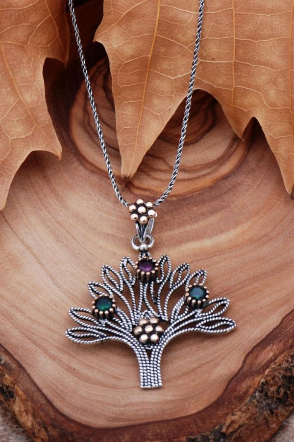 Tree of Life Filigree Silver Necklace 6762