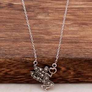 Water Fairy Silver Necklace with Marcasite Stone 425