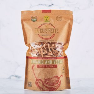 La-Cuisinette, Organic & Vegan Fettuccini with Sweet Red Pepper, 12.34oz - 350g
