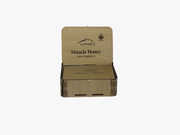 Leopard Miracle of Honey and Herbs in Wooden Box, 15g x 12 sachets