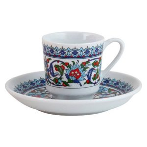 Porcelain Turkish Coffee Set (6 Cups)