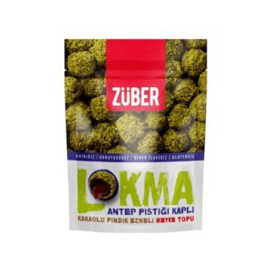 Powdered Pistachio Coated Cacao & Hazelnut Flavored Lokma, 3.3oz - 96g